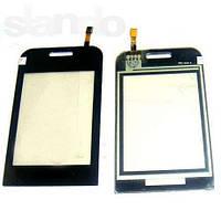 Сенсорная пленка + стекло Samsung E2652 black  оригинальный