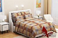 Комплект постельного белья (evro) RC9226braun двуспальный евро бязь