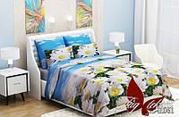 Комплект постельного белья (evro) RCR061 двуспальный евро бязь