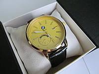 Мужские наручные часы BMW (БМВ), золотой корпус