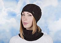 Комплект ZH-30 шапка снуд Шоколад