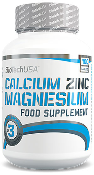 Минералы BioTech Calcium Zinc Magnesium 100 tabs