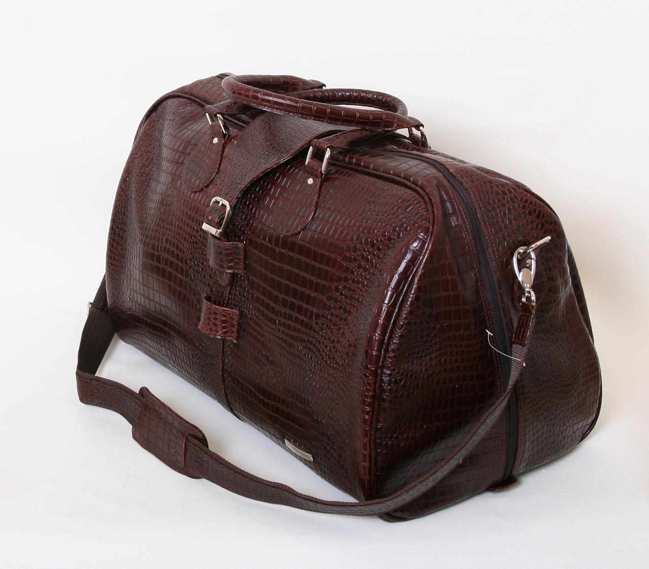 Дорожная кожаная сумка Vip Collection 36490.B.CROC 45 л