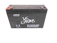 Аккумулятор  6в 12a Jump 6NF7 клемы штекер