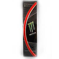 "Наклейки на диски ""Monster Energy"" (обод 16-17''), красные"