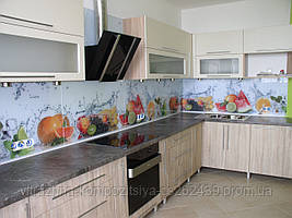 Кухонный фартук из стекла с изображением