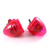 Мото колонки на мопед, скутер, мотоцикл, красного цвета с подсветкой  (к-т 2 штуки)