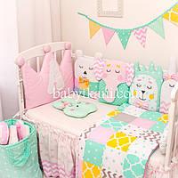 """Защита бортики игрушки в кроватку. Бебитойсы (babytoys) """"Цветные сны №2"""""""