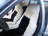 Автомобильный чехол, овчина, цвет жёлтый из коричневой серединой