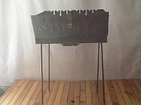 Мангал складной на 8 шампуров сталь 2мм