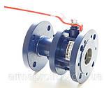 Кран шаровый стальной полнопроходной фланцевый КШУн-150 ЭТОН (11с67п) Ду150 Ру16, фото 2