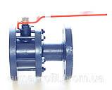 Кран шаровый стальной полнопроходной фланцевый КШУн-150 ЭТОН (11с67п) Ду150 Ру16, фото 7