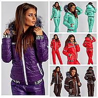 Жіночий зимовий лижний костюм на овчині 6 кольорів 15268, фото 1