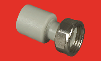 Патрубок 20х1/2 переходной пластиковый с накидной гайкой FV-PLAST