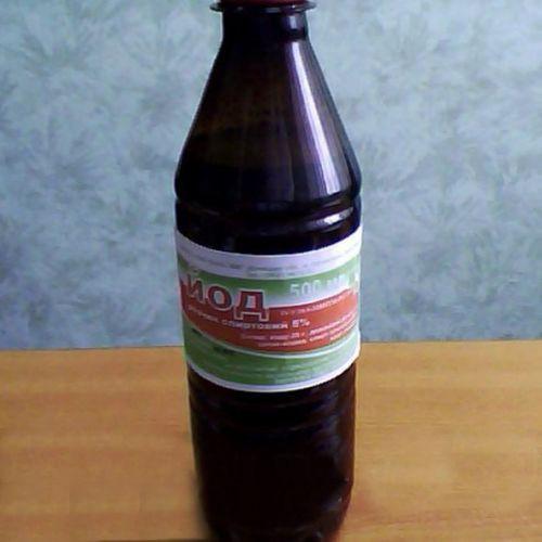 Раствор йода спиртовой 5% 1 л (Базальт) антисептическое, раздражающее и отвлекающее средство.