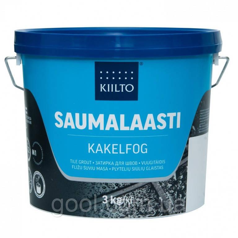 Затирка для швов плитки Kiilto Pro Saumalaasti цвет средне серый № 41 ведро 20 кг.