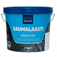 Затирка для швов плитки Kiilto Saumalaasti цвет тёмно-серый № 44 ведро 20 кг.
