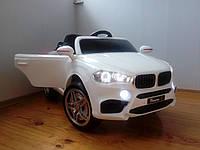 Детский электромобиль МХ4444 BMW X5, Резина EVA, 4 Амортизатора, Кожаное сиденье, дитячий електромобіль