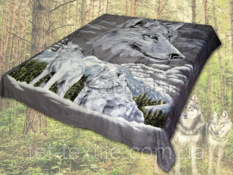 """Плед облегченный из микрофибры """"Волки"""" (160х210)"""