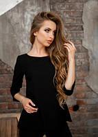 Черная блуза с оригинальной спинкой