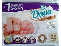 Подгузники Dada 1 (2-5 кг) 26 шт.