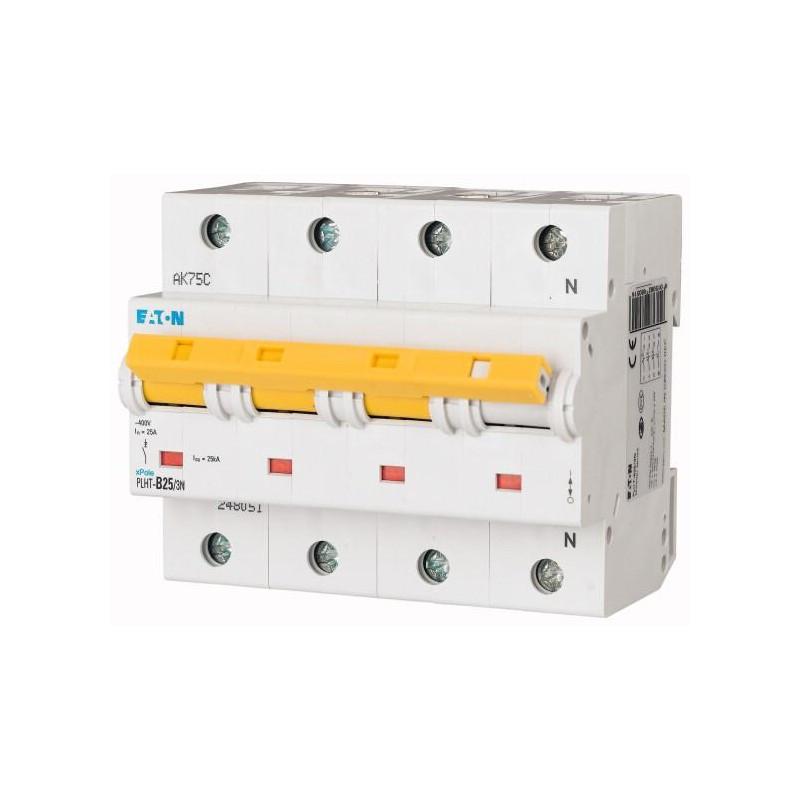 Автоматический выключатель PLHT-B25/3N (248051) Eaton 25A 3Np 15kA