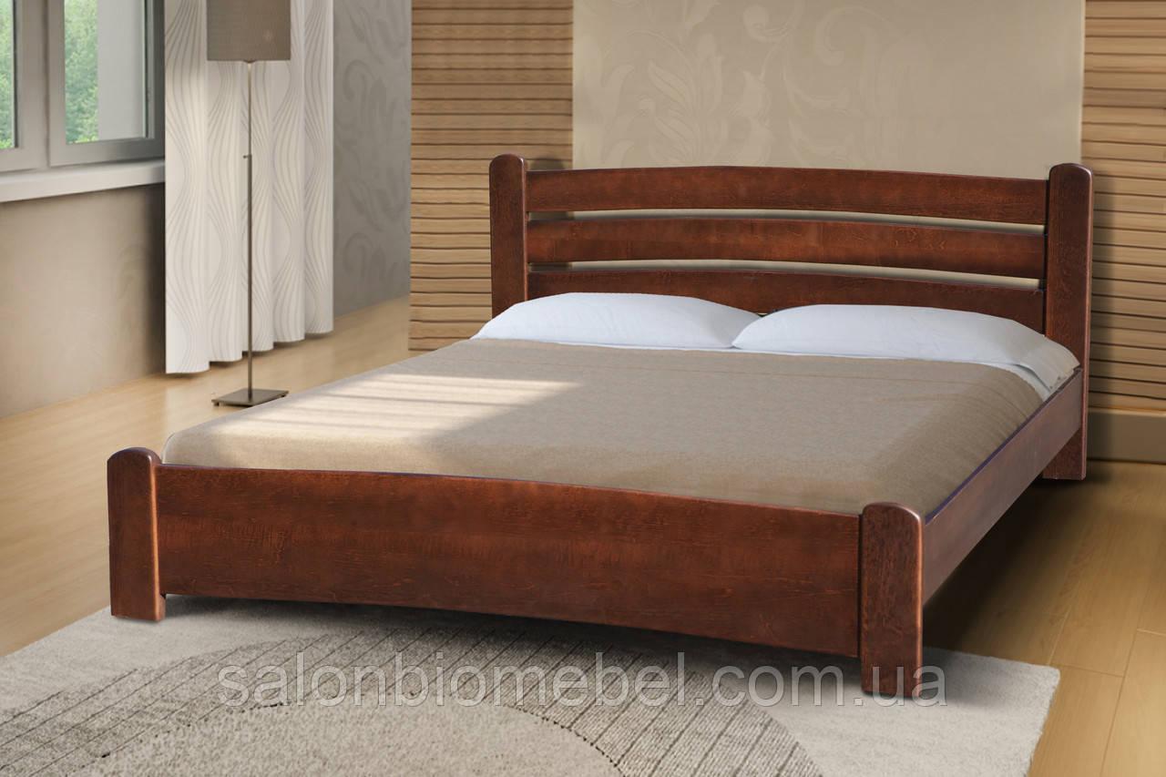 Кровать двуспальная София 1,6м ольха темный орех