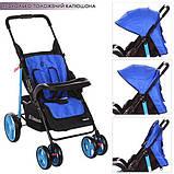 Прогулочная коляска Next фиолетовая M  3444-4 NEXT с регулировкой подножки, фото 2