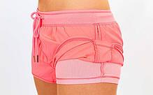 Короткі шорти для занять в тренажерному залі жіночі VSX CO-6473-P, фото 2
