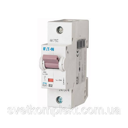Автоматичний вимикач PLHT-C32 (247983) Eaton 32A 1P 20kA, фото 2