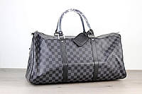 Сумка дорожная Louis Vuitton Keepall Damier Graphite 18070 черно-серая