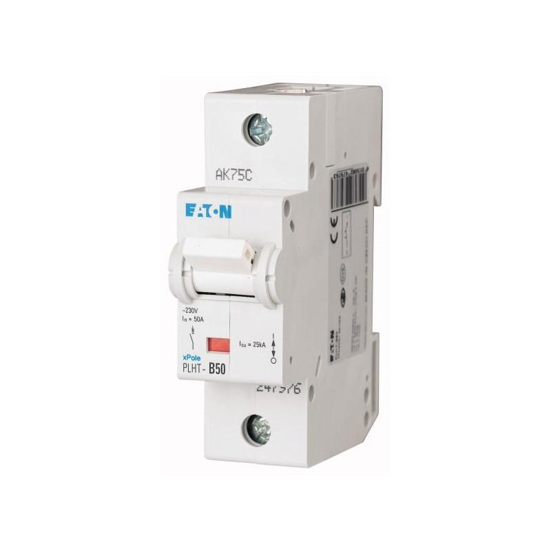 Автоматический выключатель PLHT-C50 (247985) Eaton 50A 1P 20kA