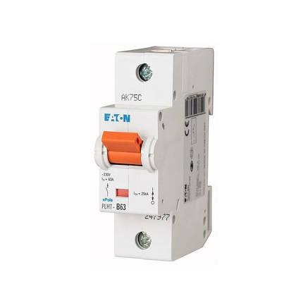 Автоматичний вимикач PLHT-C63 (247986) Eaton 63A 1P 20kA, фото 2