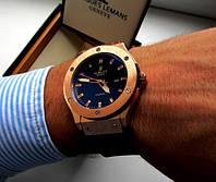 Часы наручные мужские HUBLOT золото , магазин мужских часов