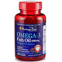Витамины и минералы Puritan's Pride Omega-3 Fish Oil 1000 mg (100 softgels)