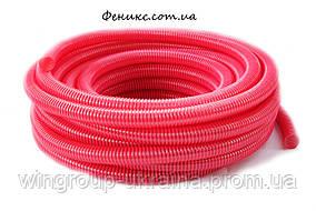 Гофра красная напорно-всасывающая Evsi Plastik 25 мм (25 м)