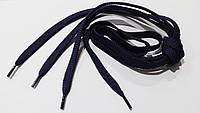 Шнурки для обуви  плоские  120 см  темно- синий