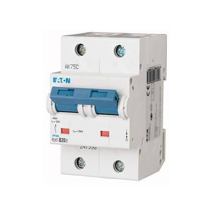 Автоматичний вимикач PLHT-C20/2 (248007) Eaton 20A 2P 20kA, фото 2