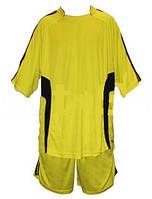 Форма футбольна без номера MATSA MA-0073-2(XL) AD (нейлон, р-р XL-52-54, жовтий, шорти жовті)