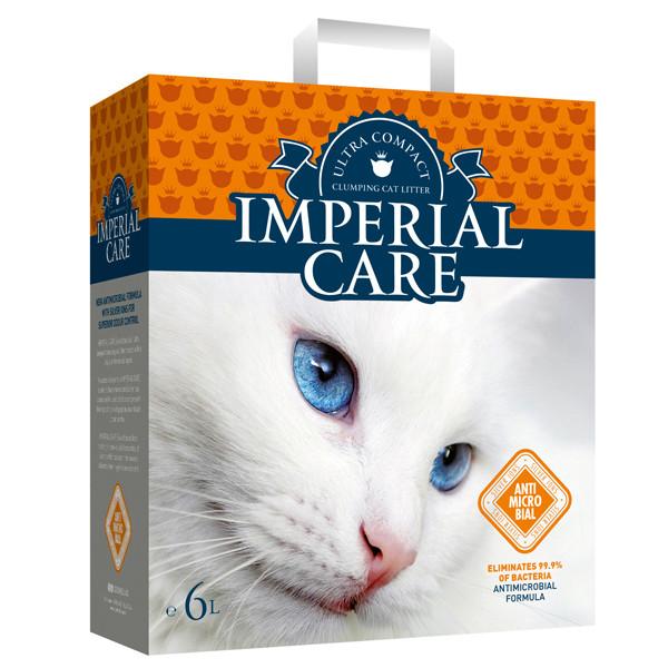 ИМПЕРИАЛ КАРЕ С ИОНАМИ СЕРЕБРА (Imperial Care Silver Ions) ультра-комкующийся наполнитель в кошачий туалет 10л