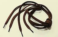 Шнурки  для  обуви  плоские  (100 см)  темно-коричневые  (ш-10 мм)