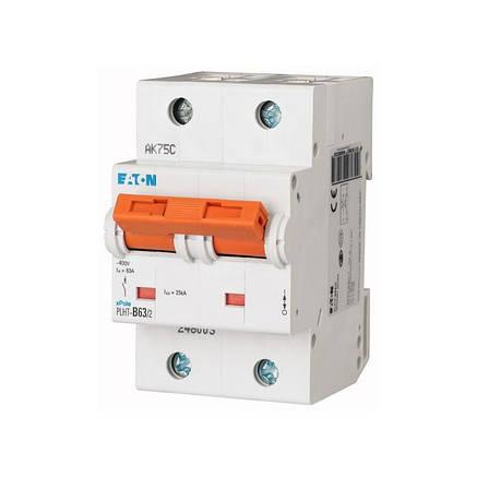 Автоматичний вимикач PLHT-C63/2 (248012) Eaton 63A 2P 20kA, фото 2