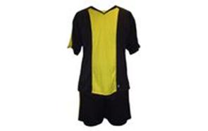 Форма футбольна без номера MATSA MA-0073-8(L) AD (нейлон, р-р L-50-52, чорний з жовтим, шорти чорні)