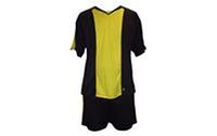 Форма футбольна без номера MATSA MA-0073-8(XL) AD (нейлон, р-р XL-52-54, чорний з жовтим, шорти чорні)