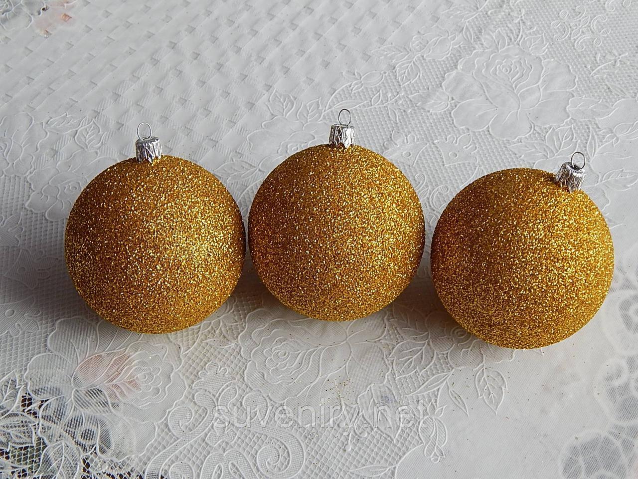 Красивые новогодние шары на елку 8см