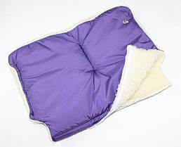 Меховая муфта на детскую коляску или санки (цвета разные)