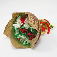Букет из конфет Розы и ромашки 11 Крафт