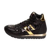 03-19 Черные  женские кроссовки C16-F-CP-03-BK
