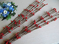 Веточки вербы (ивы) с почками. Красный 37 см - 1 шт
