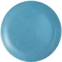 Stony Blue Тарелка десертная круглая без борта d20,5 см ударопрочное стекло Luminarc
